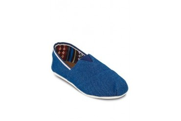 EZRA BASICS by ZALORA Denim Slip Ons With Contrast Trimming