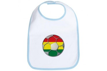 Bolivia Flag World Cup Soccer Football Futbol Ball Soccer Bib by CafePress