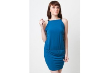 Poivre Teal halter cocktail dress