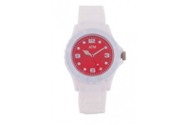 A Time Machine ATM 1002WRWW White Silicon Strap Watch