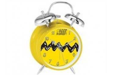 Peanuts Charlie Brown Good Grief Twin Bell Alarm Clock