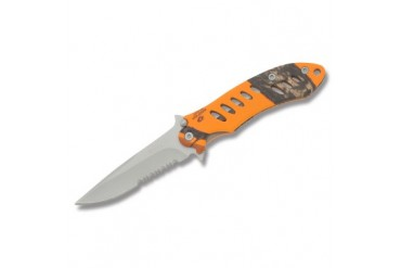 "Remington F.A.S.T. 4"" Framelock With Mossy Oak Blaze Handle - Clampacked"