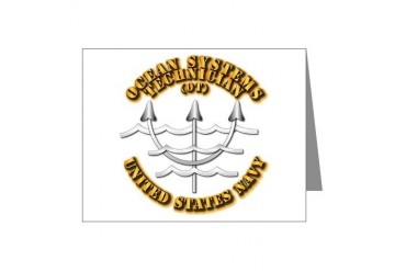 Navy - Rate - OT Navy Note Cards Pk of 20 by CafePress