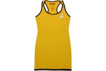Star Trek: The Original Series Command Uniform Foil Insignia Snug Fit Tank Top Dress