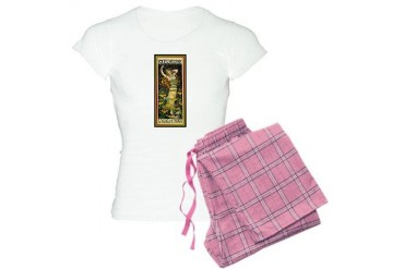 ART NOUVEAU Vintage Women's Light Pajamas by CafePress