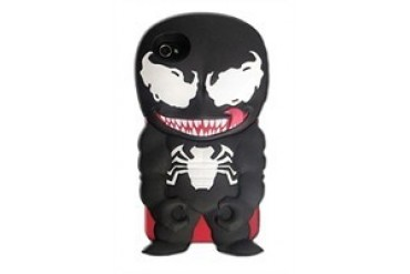 Marvel Comics Venom Chara-Cover iPhone 4/4S Rubberized Hard Phone Case
