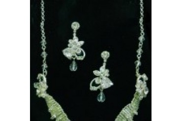 The Bridal Veil Company Necklace & Earrings Set - Style 12079