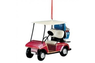 Golf Cart with Cooler Filled with Beer 6-Pack Christmas Holiday Ornament