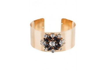Dipped Row Dahlia Crystal Cuff