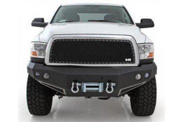 Nfab Front Winch Bumper in Black Powder Coat with Light and D-ring Mounts D10FWB Front Bumpers