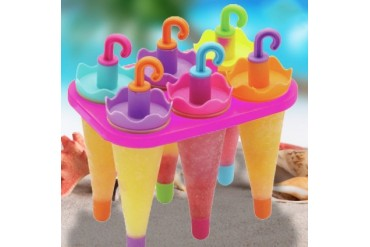 6-Pack Umbrella Shape Ice Pop Molds By Chuzy Chef
