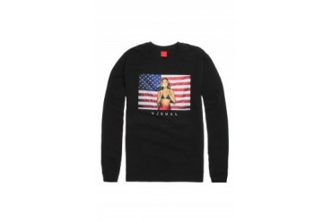 Mens Visual By Van Styles Hoodies - Visual By Van Styles Independence Crew Fleece