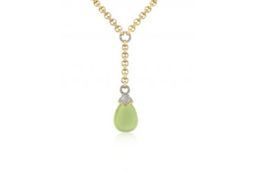 Teardrop Gold-plated Necklace