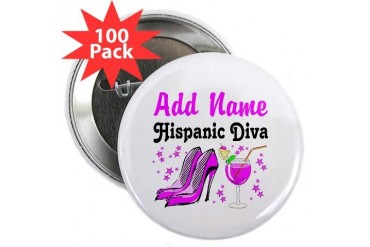 HISPANIC DIVA Spanish 2.25 Button 100 pack by CafePress