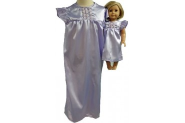 Matching Girl and Dolls Clothes Lavender Satin Size 5