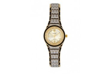 Omax JHS450SG Alloy Silver & Gold (Black Crown) Watch