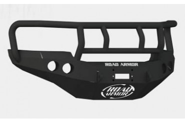 Road Armor Front Stealth Winch Bumper with Titan II Guard in Satin Black 38402B Front Bumpers