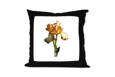 Golden Iris Flowers Suede Pillow by CafePress
