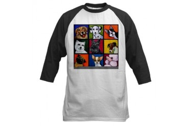 Maggie's Angels Dogs Humor Baseball Jersey by CafePress