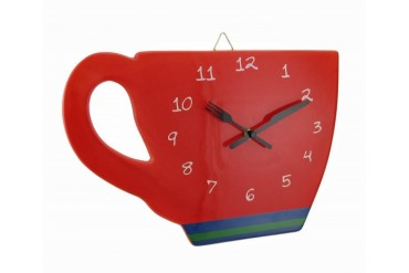 Perk Up Coffee Cup Shaped Wall Clock