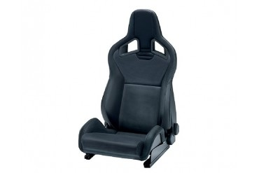 Recaro Sportster CS Left Seat Black LeatherBlack Leather Black Logo