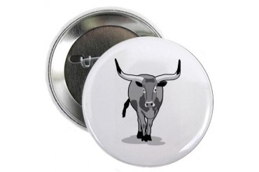 Bull Animals 2.25 Button by CafePress
