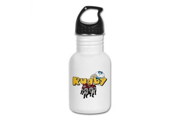 Rugby Football Kid's Water Bottle by CafePress