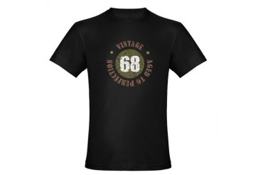 68th Vintage birthday Organic Men's Fitted T-Shirt Funny Organic Men's Fitted T-Shirt dark by CafePress