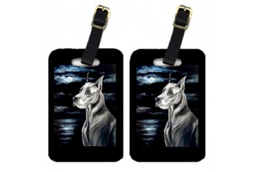 Pair of 2 Great Dane Luggage Tags