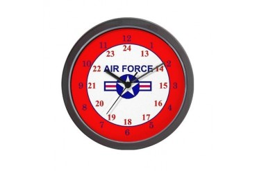 24 Hour Air Force Military Wall Clock by CafePress