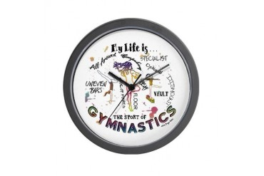 The Story of Gymnastics Wall Clock