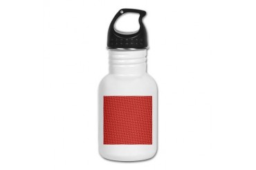Red Christmas Pattern Holiday Kid's Water Bottle by CafePress