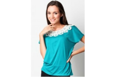 Voerin Alia Tshirt with Lace detail