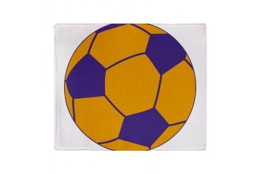 Purple and Gold Soccer Stadium Blanket Sports Throw Blanket by CafePress