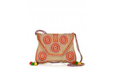 Badra Cream Wallet Clutch