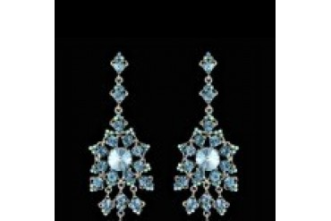 Jim Ball Earrings - Style CE543-Aqua-Silver