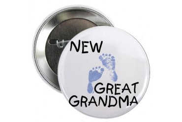 New Great Grandma blue Button New baby 2.25 Button by CafePress