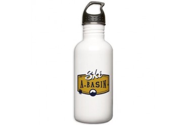 Ski Arapahoe Basin Patch Stainless Water Bottle 1. Colorado Stainless Water Bottle 1.0L by CafePress