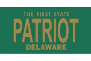Design It Yourself Custom Delaware Plate. Free Personalization on Plate