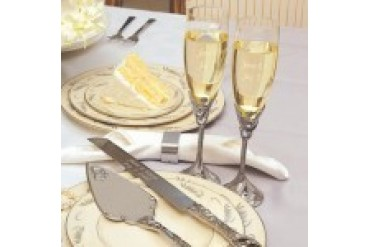 Cathy's Concepts Toasting Flutes and Serving Set - Style S2083