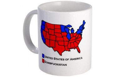USA Dumbfuckistan Election Map Mug