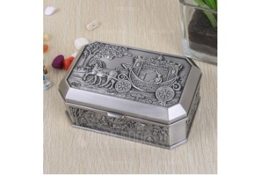 Elegant Alloy Ladies' Jewelry Box (011042618)