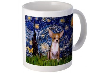 Starry Night Chihuahua Dogs Mug by CafePress