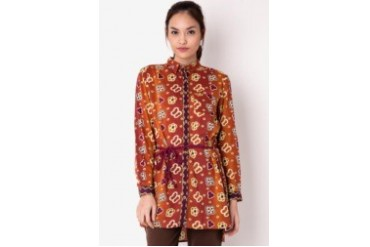 Triset Long Sleeve Blouse With Belt