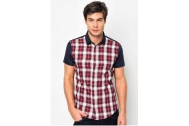 FMS by Radioactive Front Checks Short Sleeve Shirt