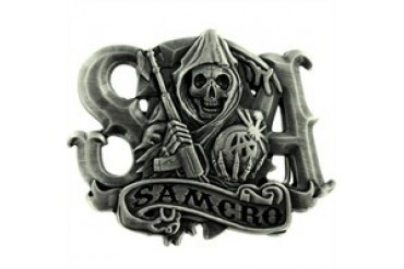 Sons of Anarchy SAMCRO Banner Reaper SOA Belt Buckle