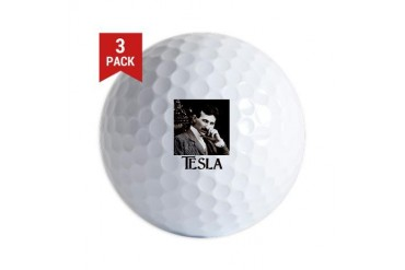 Nikola Tesla Science Golf Balls by CafePress