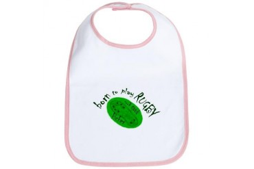 quot;Born to Play Rugbyquot; Baby Bib by CafePress
