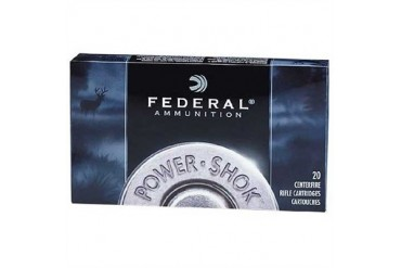 Federal Power-Shok Flat Nose Ammunition - Federal Ammo 30-30 Win 150gr Hishk Sp Fn 20/Bx
