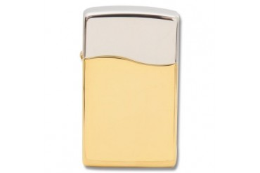 Zippo BLU2 Two-Tone Rhodium and 18K Gold Plated Fleetwood Lighter